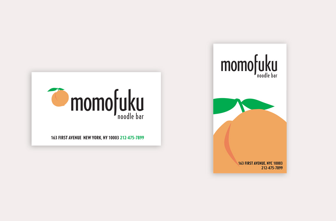 Momofuku Business Cards